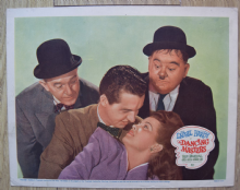Dancing Masters (1943) Laurel and Hardy - Lobby Card